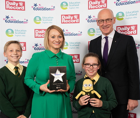 Headteacher of the Year Award - Lisamaria Purdie, St. Ninian's Primary School and Nursery Class, West Lothian Council