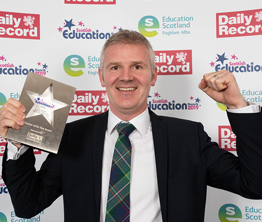 Teacher of the Year Award - John McKean, St. Ninian's High School, East Dunbartonshire Council